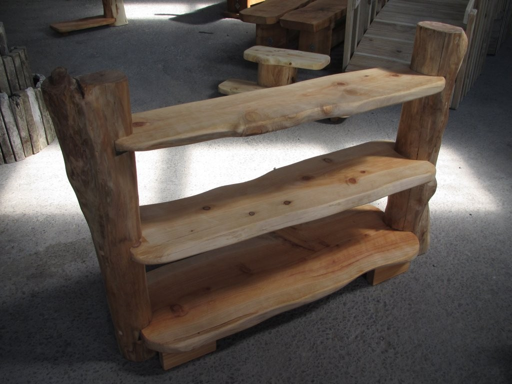 Natural Wood Shelf 3 Shelves Small In Storage Solutions
