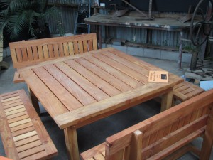 Outdoor tables and seating options