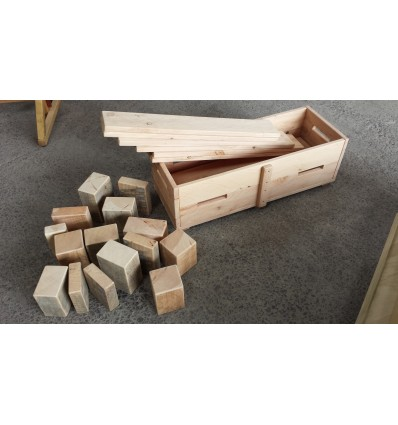 Large Box of Planks and Blocks