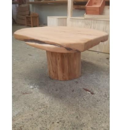 Table- Macrocarpa Slab Round - oiled