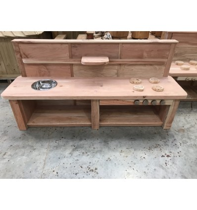 Outdoor Mud Kitchen - Natural Wood