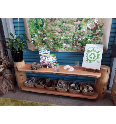 Natural Wood Shelf - 2 shelves